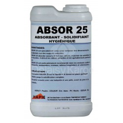 Absorbant solidifiant hygiénique ABSOR25 - Boite de 1Kg