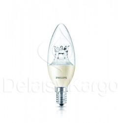 Lampe LED flamme dépolie 4W -25W E14 230V Claire 15000h PHILIPS