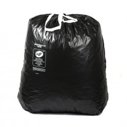 SP 100L noir BD NF liens coulissants 34µ 835x900mm - Ct. de 100 Sacs
