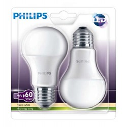 Lampe LED 9W E27 PHILIPS - Lot de 2