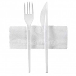 Kit 3 en 1 (fourchette / couteau / serviette) - carton de 250