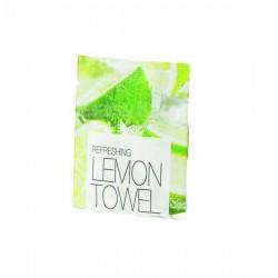 Serviette rafraichissante parfum citron - Ct. de 1000