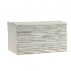 EMP 2 pl. g/c en V recyclé blanc 22.5x21cm - Ct de 3000