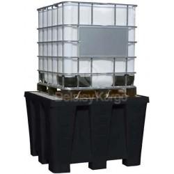 Bac de rétention 100% (PE)  pour cuve 1000L 1300x1300mm