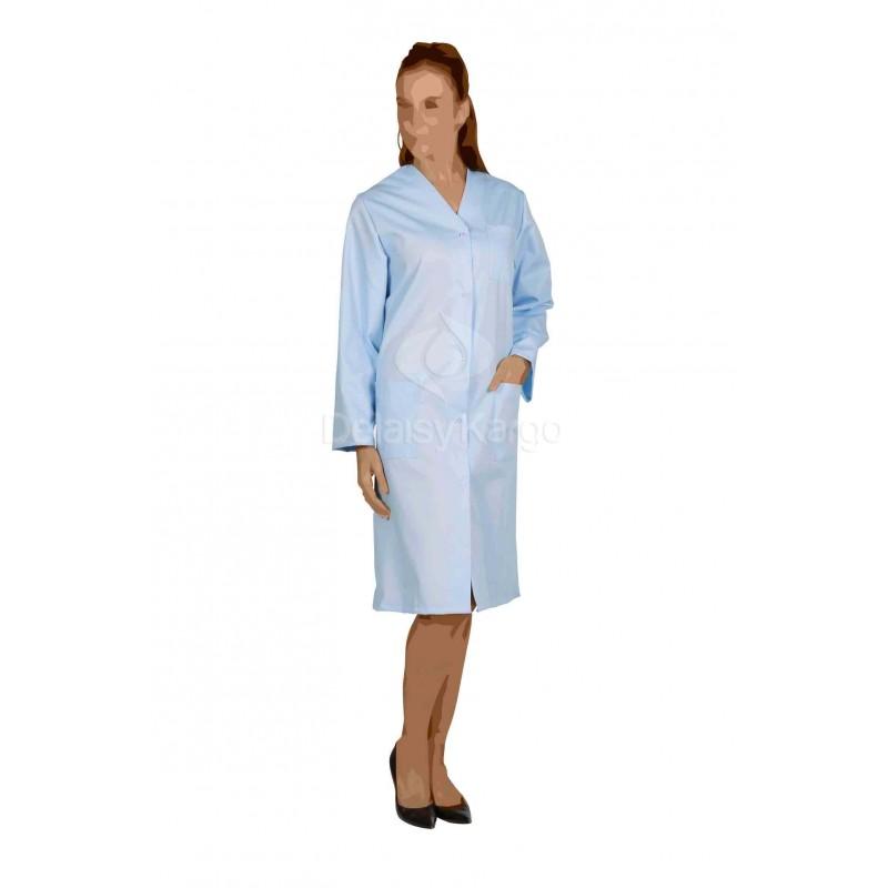 blouse de travail femme polycoton unie madonna ml bleu. Black Bedroom Furniture Sets. Home Design Ideas