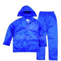 Ensemble de pluie enduit PVC | Veste + pantalon (MàXXL)