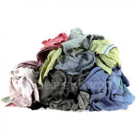 "Chiffon ""EXJ"" Tee shirt clair - 10 sacs de 1kg"