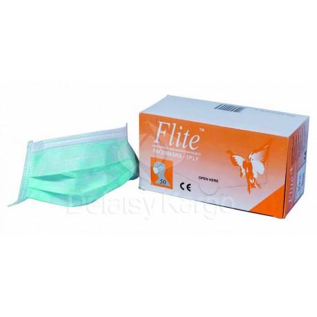 Masque filtrant 3 plis bleu   Non tissé - Boîte de 50