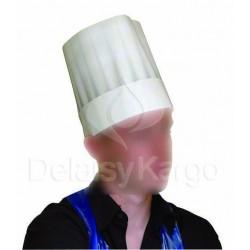 Toque blanche en papier 23cm | Fermée et réglable 10X10- Ct de 100