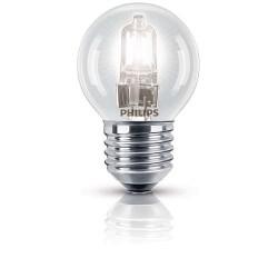 Lampe HALO CLASSIQUE sphérique E27 42W PHILIPS - Blister de 2