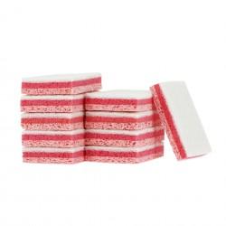 Tampon sur éponge rose grand modèle 130x90mm - Sachet de 10