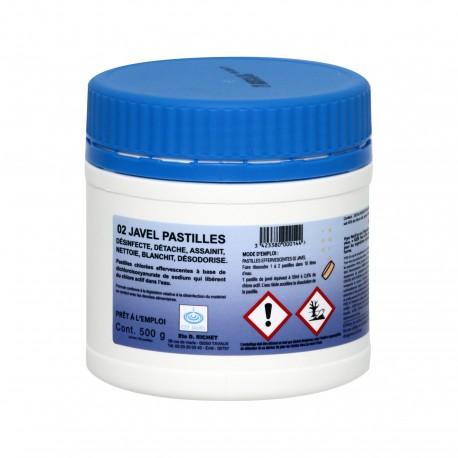 Javel en pastilles chlorées - ORLAV - 0079 - Boîte de 150 (500g)