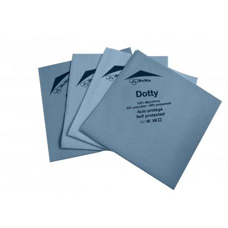 Lavette microfibre DOTTY non tissée 40x40cm 160g/m² - Sachet de 5