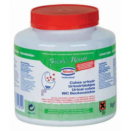 Cubes urinoirs parfumés FRESHMOUSS - Boite de 1kg