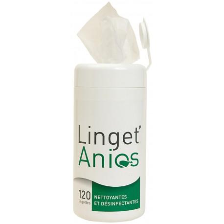 Lingettes désinfectantes LINGET'ANIOS - Boîte de 120