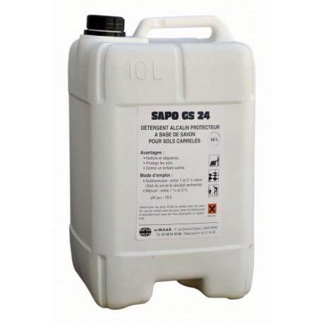 Détergent alcalin SAPO GS24 - Bidon de 10L