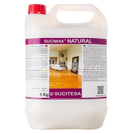 Emulsion de protection sols SUCIWAX NATURAL - Bidon de 5 kgs