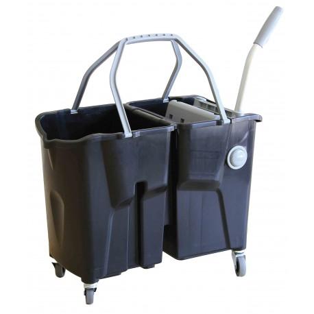 Chariot de lavage CLEVY | 2x15L Noir