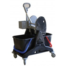 Chariot de lavage TRISTAR30 BASIC Noir 2x15L | Avec Bac Sans presse