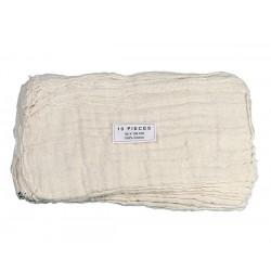 Gaze coton réutilisable avec trou central 80x100cm - Sachet de 10