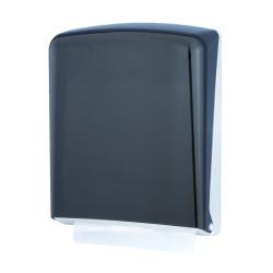 Distributeur essuie-mains feuille à feuille ABS fumé