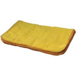 Chamoisine coton jaune 40x40cm - Sachet de 12