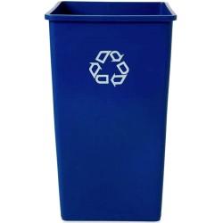 Container carré recyclage 87L Bleu