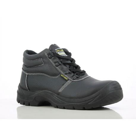 Chaussure de sécurité haute   Type BTP + industrie   Noir (36à47)