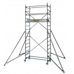 Echafaudage roulant aluminium - haut. de travail 4,80m STi3