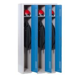 Vestiaire 3 cases H 190cm | Pour industrie salissante