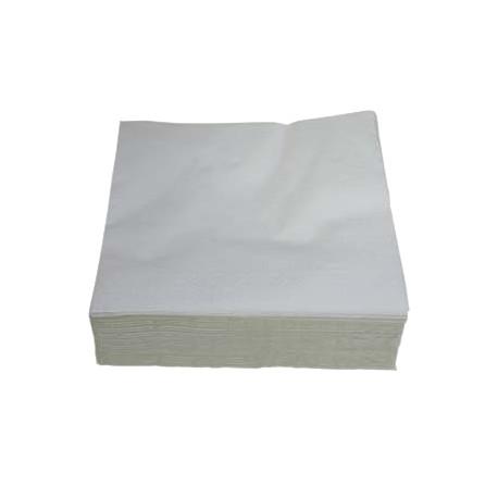 Serviette pure ouate blanche 2 plis 30x30cm - Ct de 4000