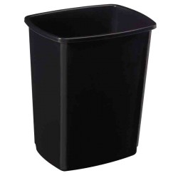 Corps de poubelle basculant noir 50L