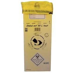 Caisse carton DASRI 25L (230x230x430mm) - Lot de 10