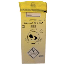 Caisse carton DASRI 50L haute (295x295x575 mm) - Lot de 10