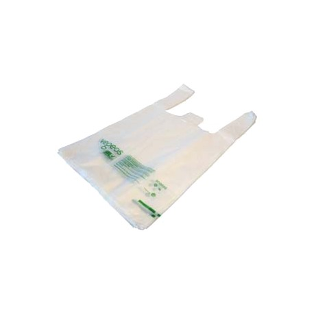 Sac bretelle Biodégradable 13µ - charge utile 4kg - Ct de 1500 sacs