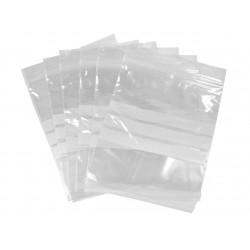 Sac zip transparent 3 bandes blanches 230x320mm - Ct de 2000