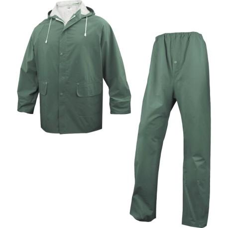 Ensemble de pluie enduit double face PVC | Veste + pantalon (MàXXL)