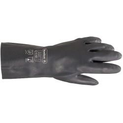 Gant néoprène 30cm | Floqué coton | Noir (M à 3XL) - 1 paire