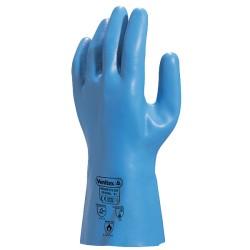 Gant latex L 30cm | Support jersey coton | Bleu (S à XXL) - 1 paire