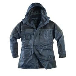 Parka polyester enduit PU | imperméable | Bleu mar/Noir (SàXXL)
