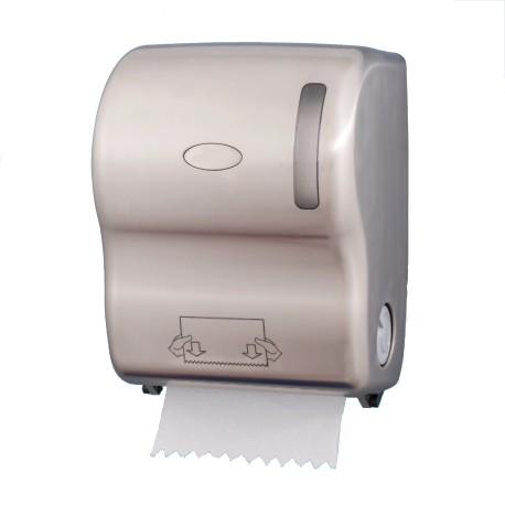 Distributeur essuie-mains en rouleaux ABS Nickélé Satiné