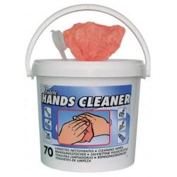 Lingettes nettoyantes mains et surfaces HANDS CLEANER - Seau de 70