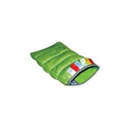 Gant microfibre vert DELTA 14 x 26 cm 200gr/m² - Sachet de 2