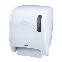 Distributeur essuie-mains en rouleaux optique ABS Blanc