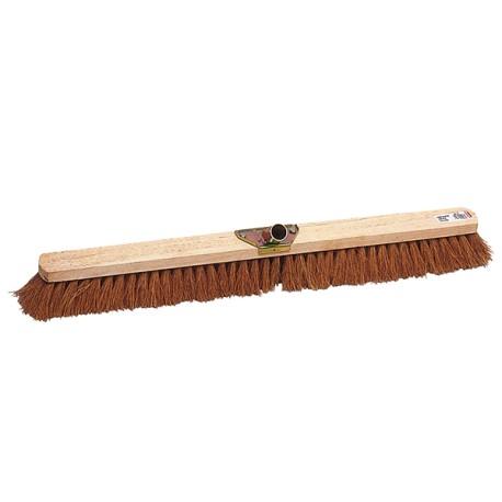 Balai coco professionnel |Monture bois douille métal inclinée L 80cm