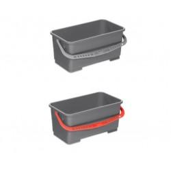 Seau 22L gris VDM avec anse grise ou rouge