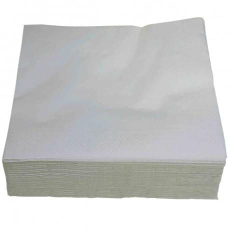 Serviette pure ouate blanche 2 plis 38x38cm - Ct. de 1800