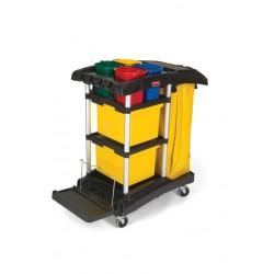 Chariot de ménage et désinfection + accessoires RUBBERMAID