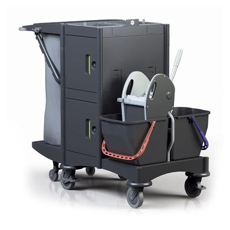 Chariot de ménage BRIX SCHOOL avec presse à machoire (ex E274020CH)