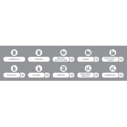 Etiquettes pour station de recyclage SLIM JIM - Kit 10